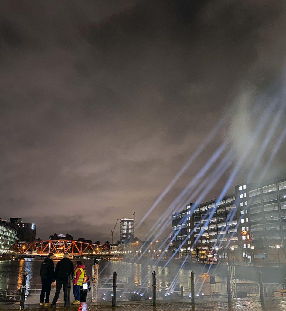 Lightwaves 2019 Light Orchestra, an interactive sound and light installation