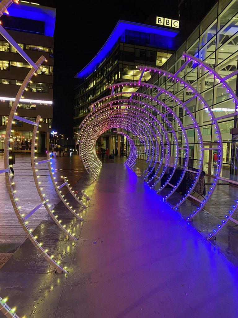 Spiro an immersive walkway through a 25m light tunnel.