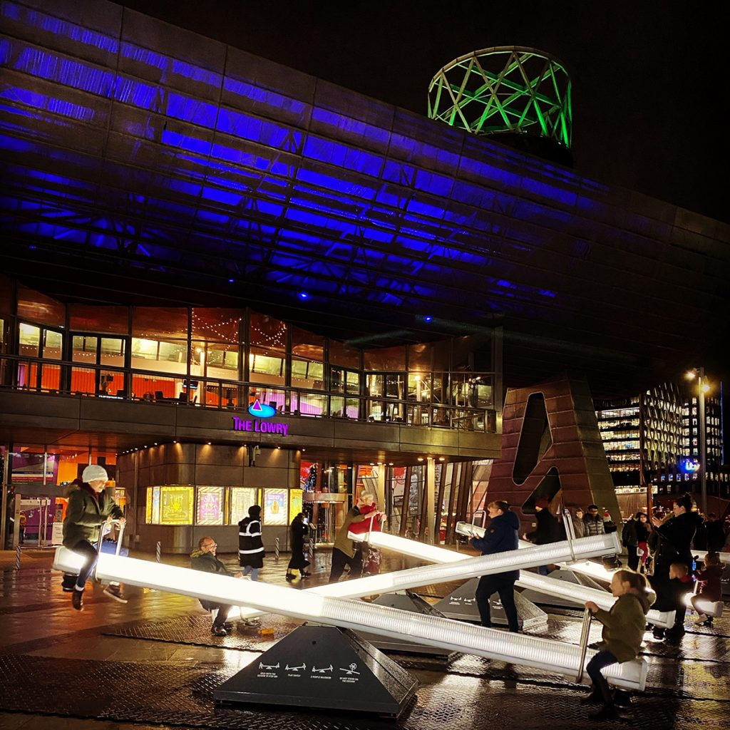 LIghtwaves 2019 Wave-field, the world famous interactive Musical Seesaws. Created by Lateral Office and CS Design,
