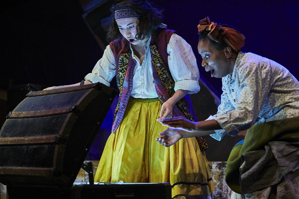 Ami Okumura Jones and Ebony Feare in Treasure Island. Credit The Other Richard
