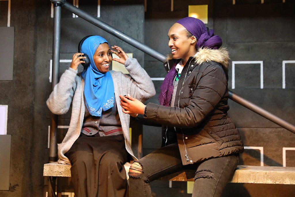 CUTTIN' IT -L-R Hermon Berhane (Iqra) & Asha Hassan (Muna) - Image Anneka Morley