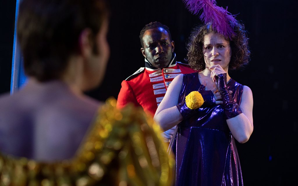 Gabriel Paul and Jessica Baglow in Northern Broadsides' production of Quality Street. Photo by Sam Taylor