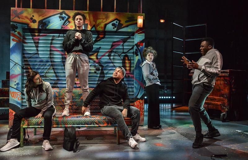 Crongton Knights (l-r) Nigar Yeva, Aimee Powell, Zak Douglas, Kate Donnachie & Olisa Odele - photo credit Robert Day