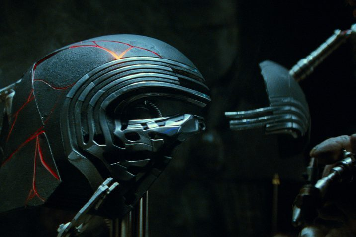 Kylo Ren's restored helmet in STAR WARS: EPISODE IX. Lucasfilm Ltd. (c) 2019 ILM and Lucasfilm Ltd.