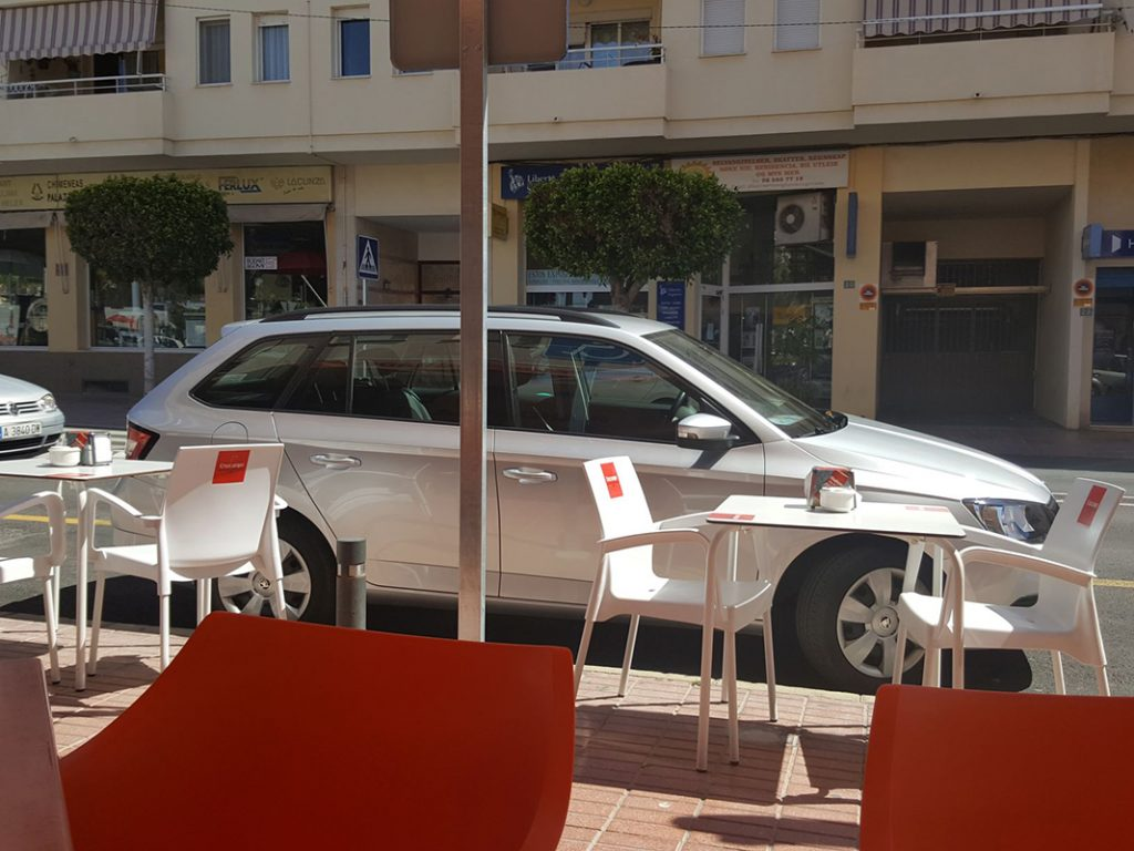 Negotiating a Disabled Parking Space in Benidorm