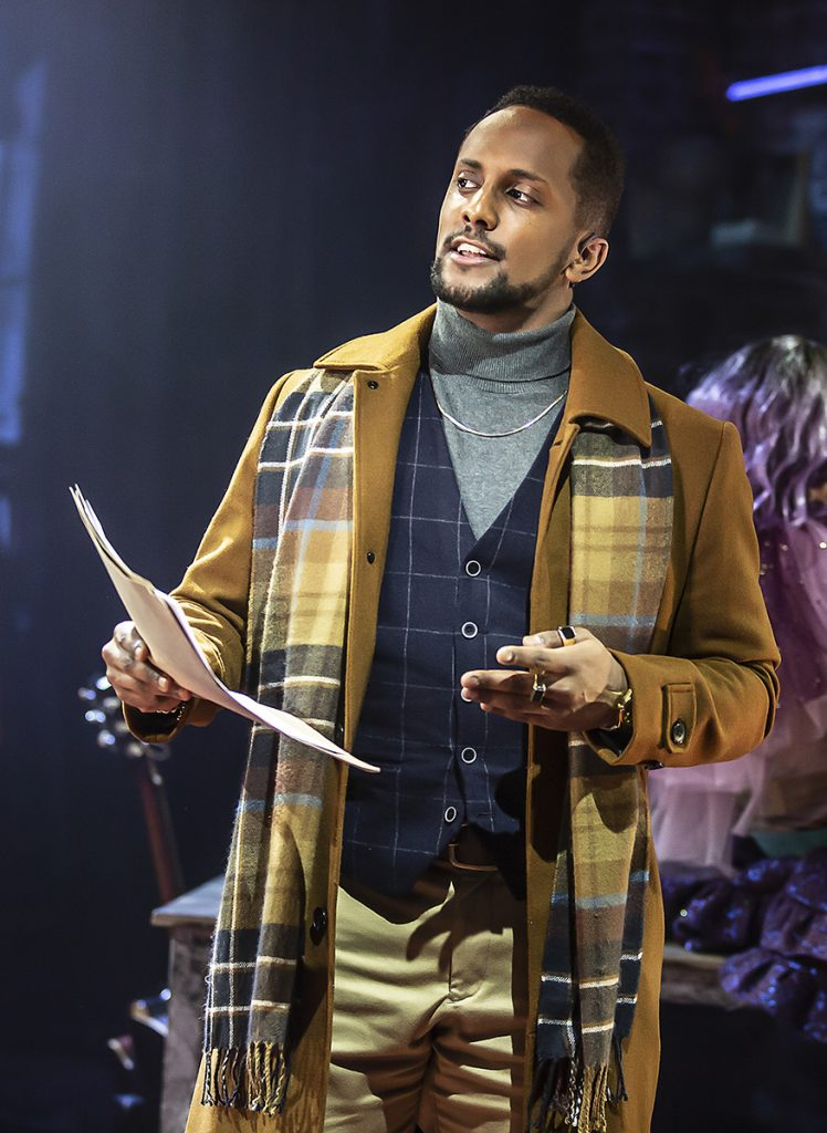 Ahmed Hamad (Benny) in RENT at Hope Mill Theatre. Photographer Pamela Raith