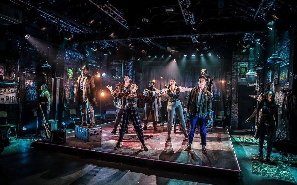 Company of RENT at Hope Mill Theatre. Photographer Pamela Raith