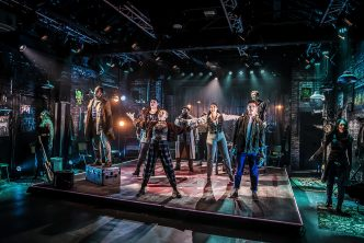 Company of RENT at Hope Mill Theatre. Photographer Pamela Raith