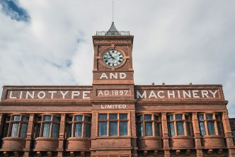 The Linotype and Machinery Company building in Altrincham
