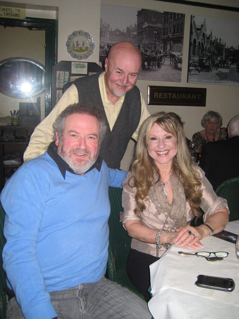 Gary at The Market Restaurant with actors David Fleeshman and Sue Jenkins