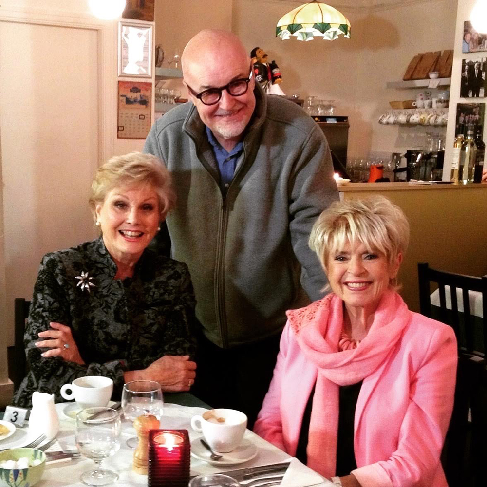Aristologist Gary at The Market Restaurant with guests, Angela Rippon and Gloria Hunniford