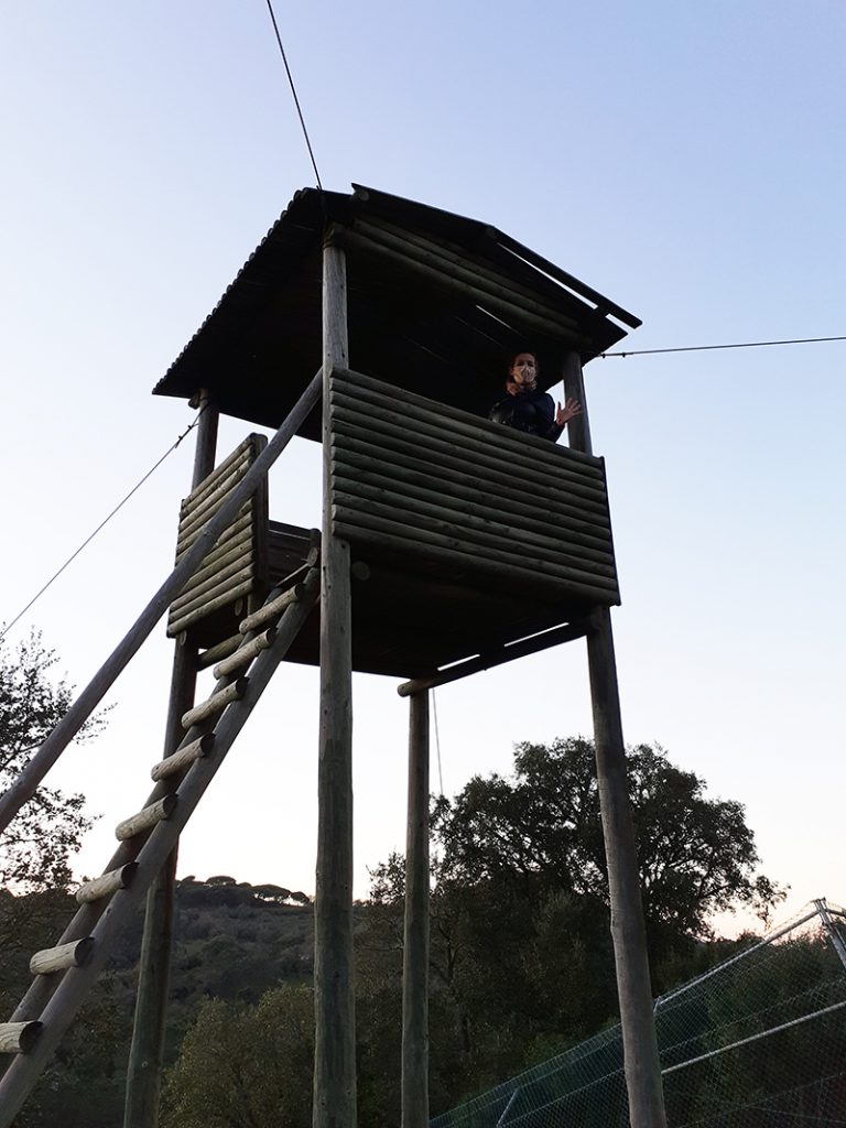Viewing station at the Iberian Wolf Recovery Centre