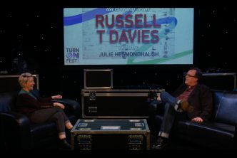 Julie Hesmondhalgh and Russell T Davies