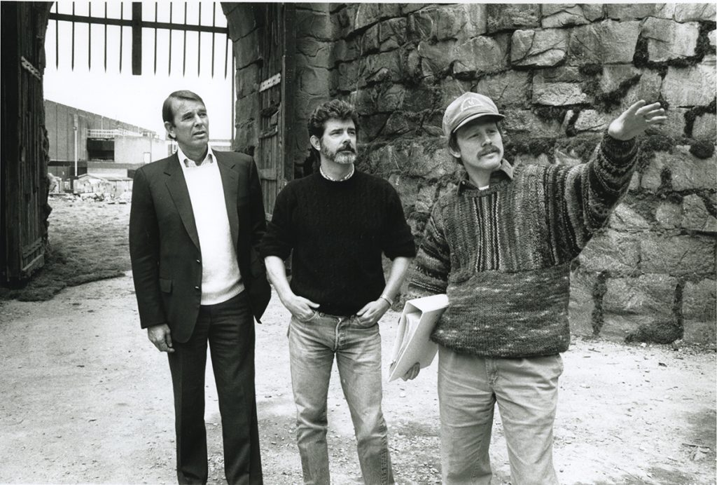 Alan Ladd with George Lucas and Ron Howard
