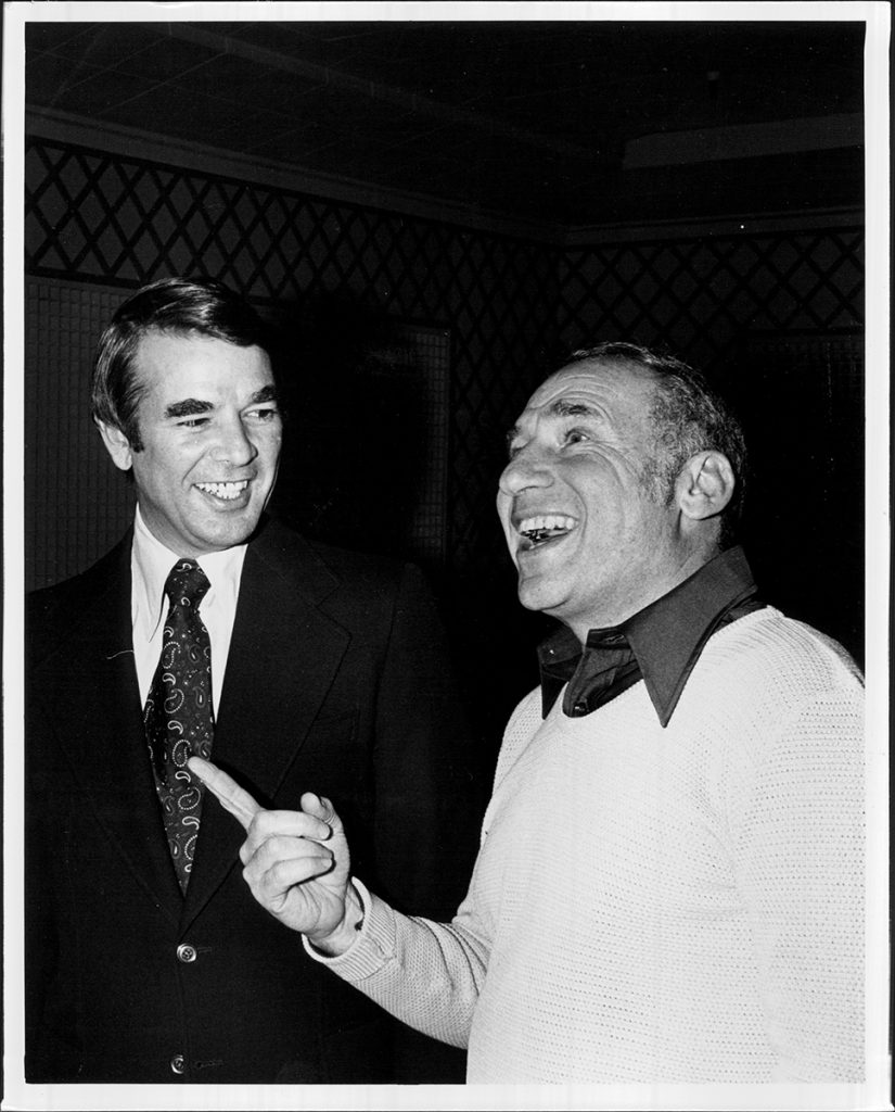 Alan Ladd Jr and Mel Brooks