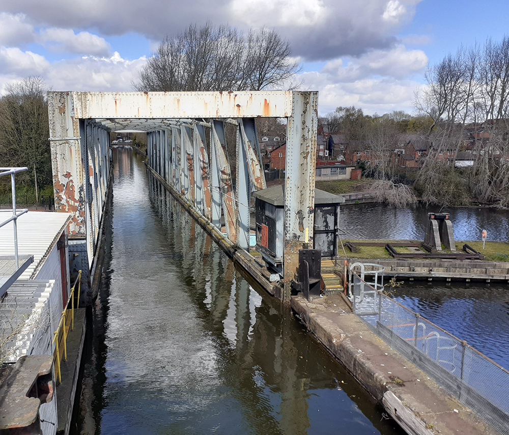 Water in the Swing Bridge