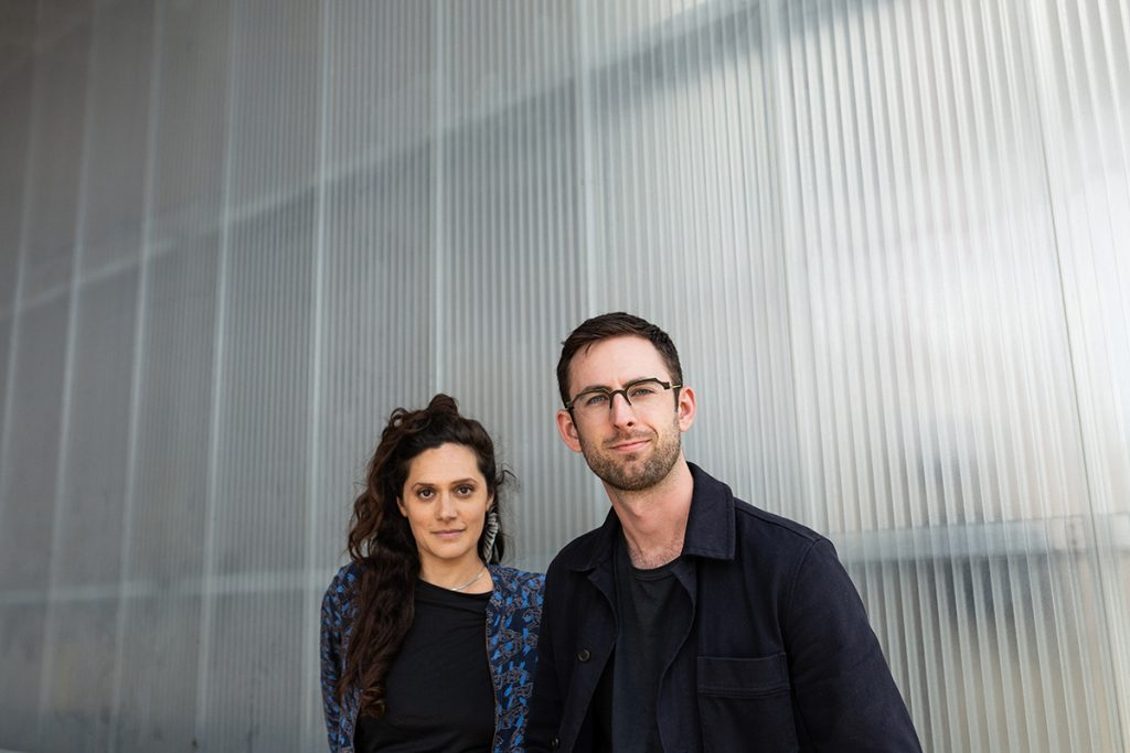 Manchester Collective co-founders Rakhi Singh and Adam Szabo. Photo by Robin Clewley