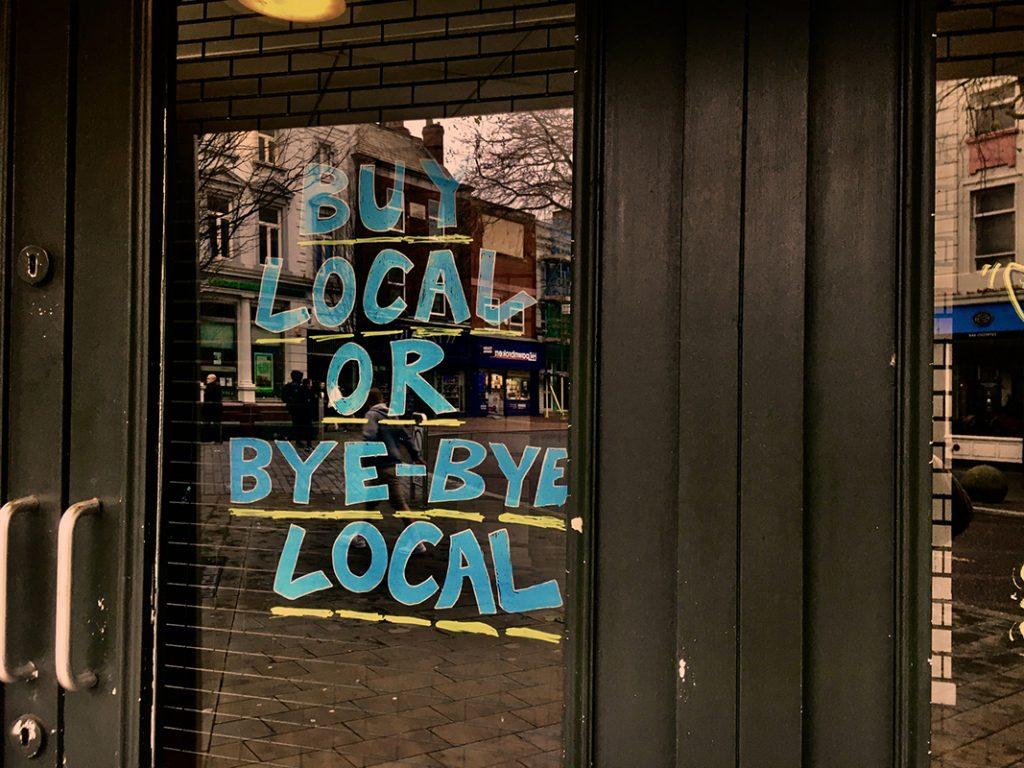 Shop local  Photo by Arthur Franklin on Unsplash