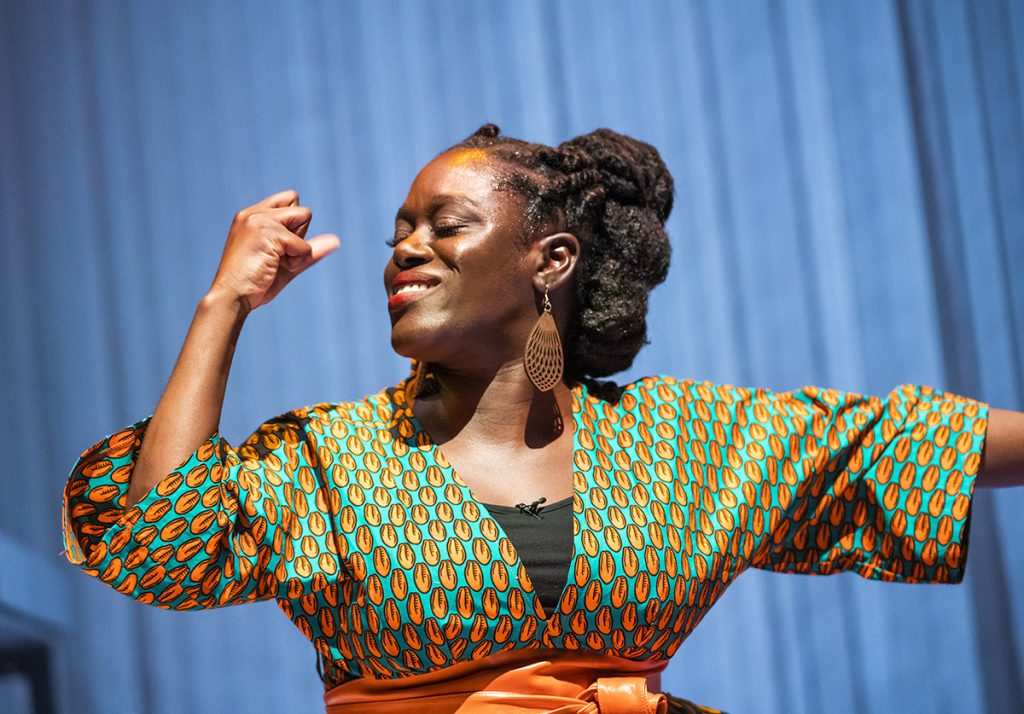 Michelle Asante in Notes on Grief, MIF 21. Credit Tristram Kenton (4)