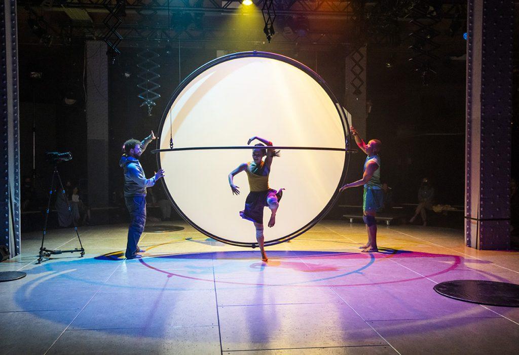 Sean Garratt, Charmene Pang, Kennedy Junior Muntanga in The Global Playground ©Tristram Kenton