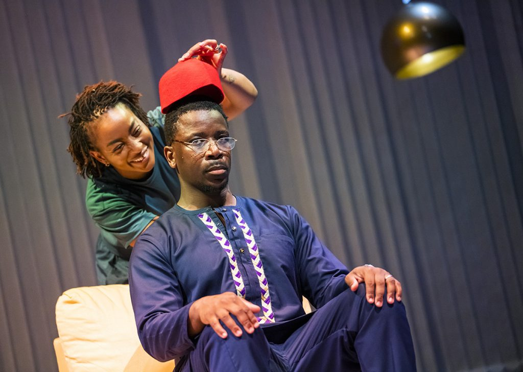 Uche Abuah and Itoya Osagiede in Notes on Grief, MIF 21.